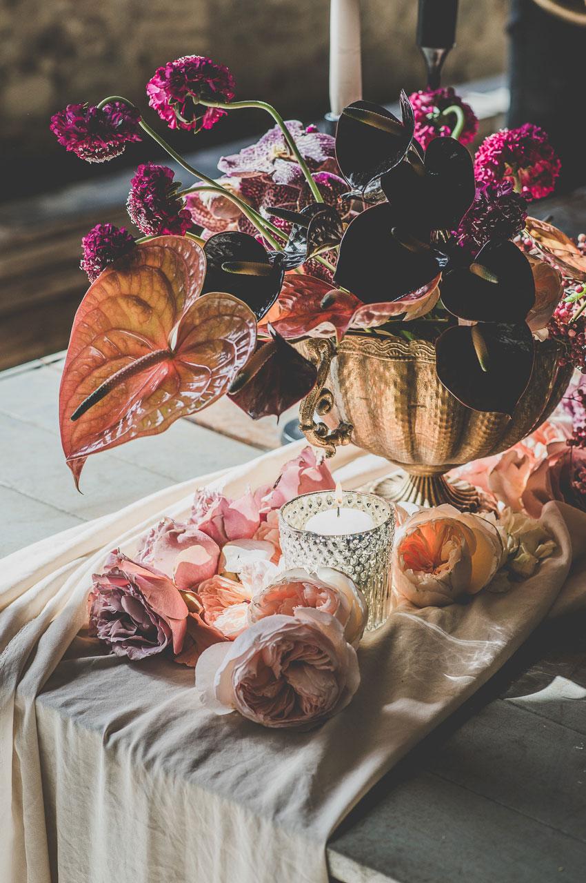 Particolare fiori per matrimonio